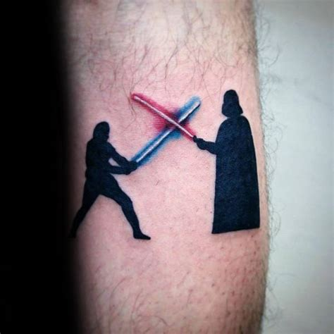 luke skywalker tattoo lightsaber finger collections