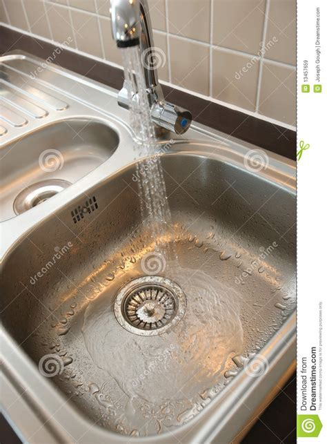 how to sink in water kitchen sink with running water royalty free stock images