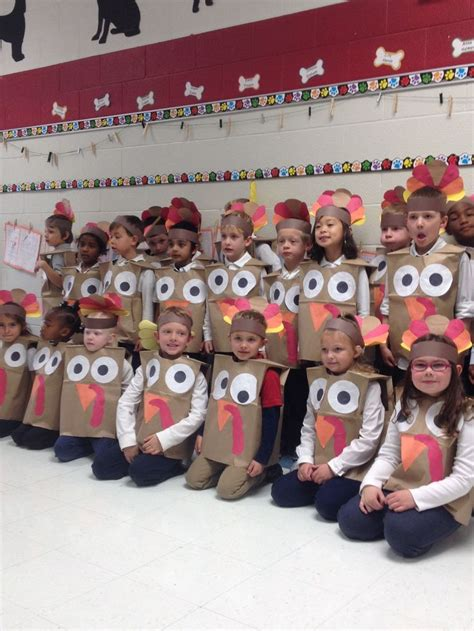 preschool thanksgiving costumes indian vest just one turkey costumes paper bags and construction paper make