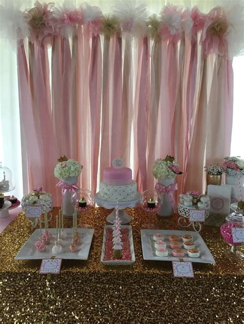 Pink And Gold Baby Shower Ideas by Pink And Gold Baby Shower Baby Shower Ideas Food