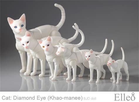 jointed doll cat khao manee cat bjd 03 by leo3dmodels on deviantart