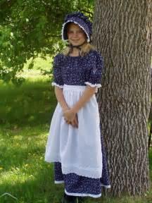 girls pioneer prairie colonial dress costume by pioneerpieces