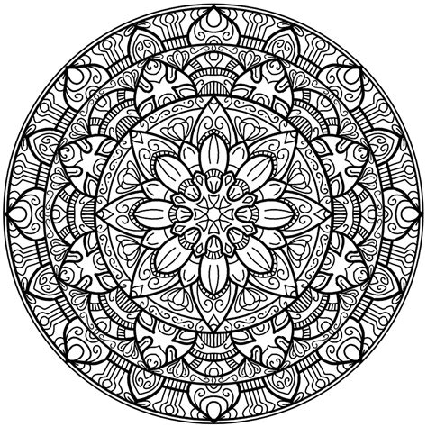 round mandala coloring pages circles