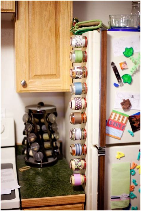 diy magnetic spice rack baby food jars 15 awesome ideas to recycle baby food jars for home decor
