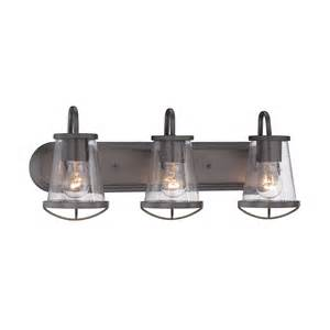 3 Light Bathroom Fixture Designers Darby Weathered Iron Three Light Bath Bar On Sale