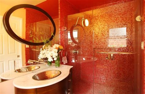 red marble bathroom red branding four powerful ways to infuse your home with red