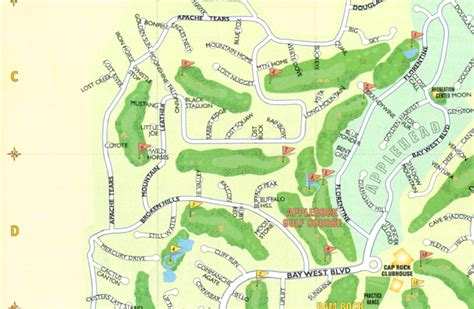 texas golf courses map re max horseshoe bay resort sales real estate highland lakes texas map c 1 c 2 c 3 d