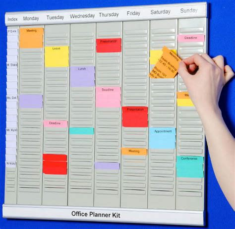 office planner online eurocharts t card kit systems