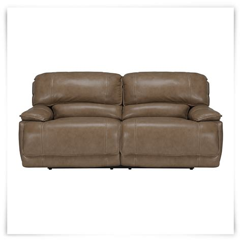 Vinyl Leather Sofa Benson Dk Taupe Lthr Vinyl Reclining Sofa