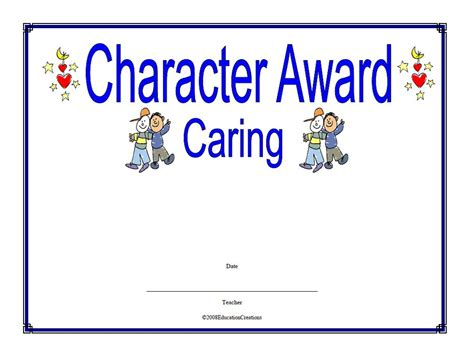 character certificate template stunning character award template pictures inspiration