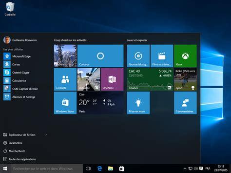 image bureau windows windows 10 les nouveaut 233 s en images cnet