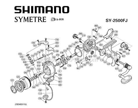 shimano stradic parts diagram shimano sy2500fj parts list and diagram