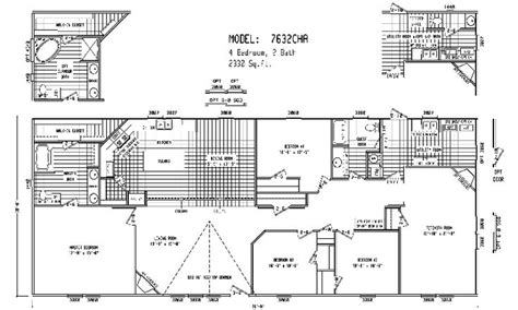 5 bedroom double wide trailer triple wide mobile home floor plans double wide home