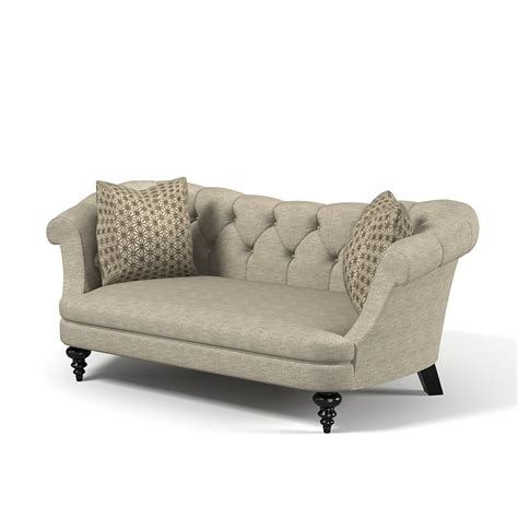 traditional classic sofa 3d model of classic traditional tufted