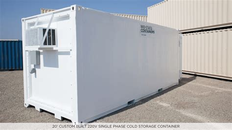 Freezer Container insulated refrigerated shipping storage containers midstate containers