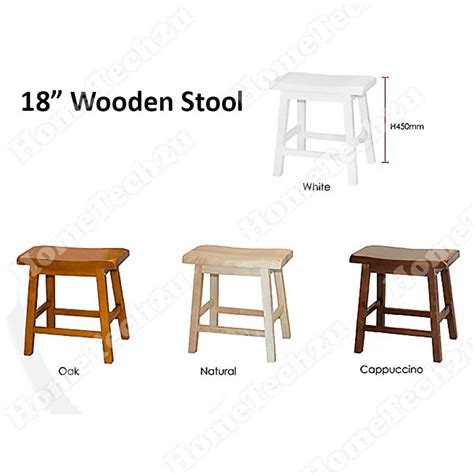 18 Inch Stool White by Lavelle 18 Inch Wooden Stool Wooden Rectangle Stool