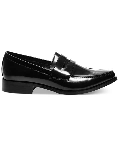 loafer flats for lyst steve madden s lindie loafer flats in black