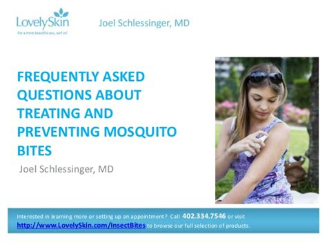 Frequently Asked Questions Gaithersburg Md Joel Schlessinger Md Faq Mosquito Bites