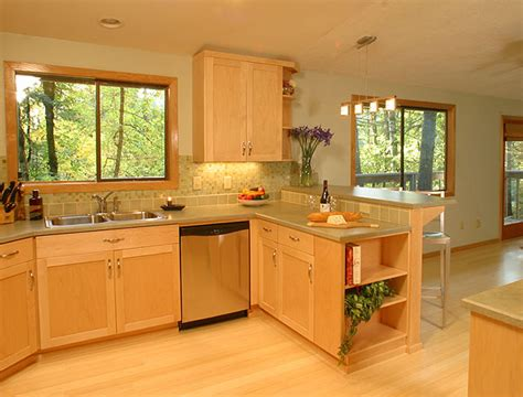 Kitchens With Light Maple Cabinets Light Maple Kitchen Cabinets Light Maple Cabinets Photo Below Combined With A Lighter Bamboo