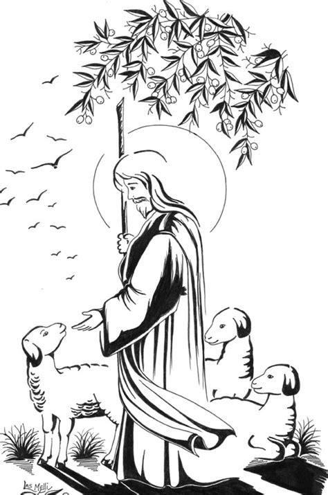 imagenes de jesus el buen pastor para nino mega colecci 243 n de dibujos cristianos para imprimir y