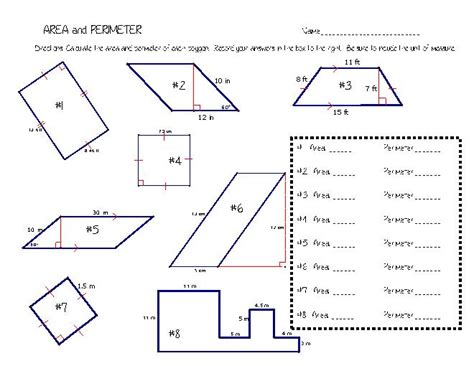 irregular shapes area worksheet area and perimeter of irregular shapes worksheets worksheets