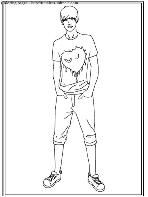 coloring pages to print of justin bieber timeless