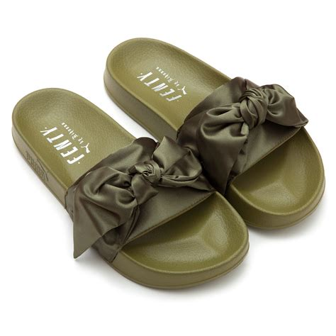 Bow Fenty Rihana fenty by rihanna bow slide fenty x shoes