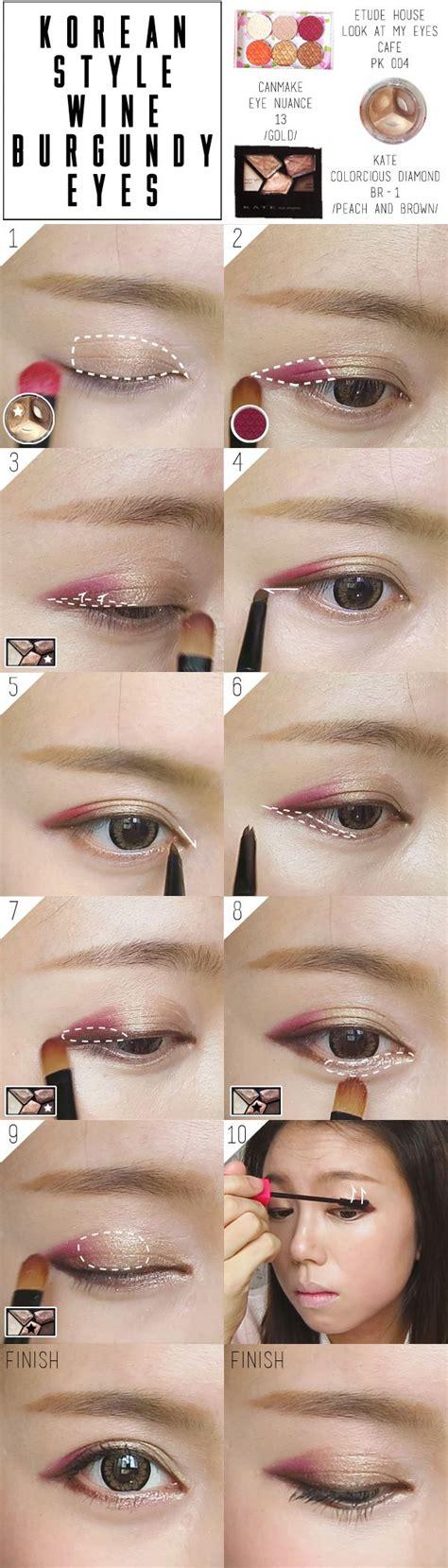 tutorial makeup ulzzang korean korean ulzzang burgundy makeup fall tutorial pictorial