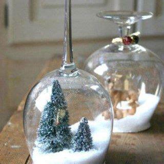 weinglas als kerzenhalter weihnachten unter dem weinglas deko weihnachten