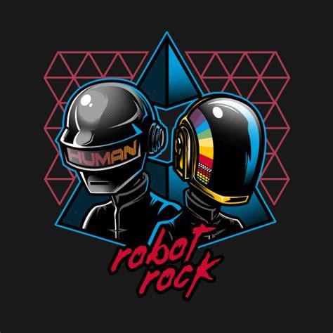 daft punk q tip robot rock daftpunk t shirt teepublic