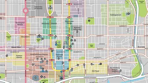 printable map toronto downtown maps update 21051488 toronto tourist attractions map