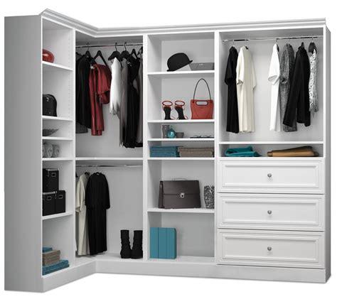 Versatile Wardrobe by Versatile White 90 Corner Storage Wardrobe From Bestar
