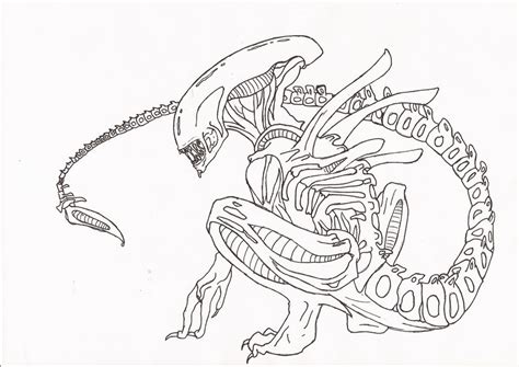 Xenomorph Coloring Page by Xenomorph Dome Coloring Pages Coloring Pages