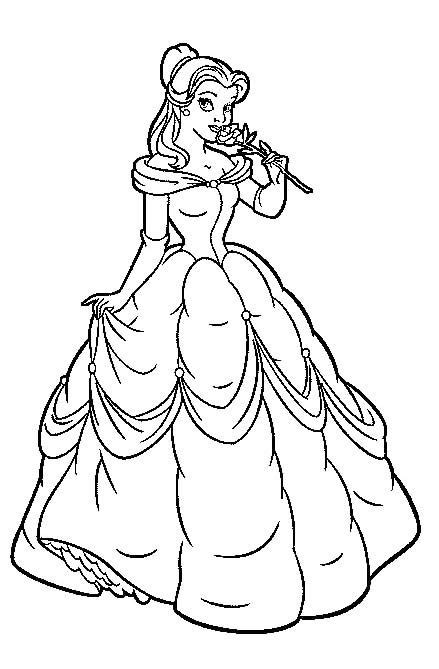 princess head coloring page princess belle head coloring pages