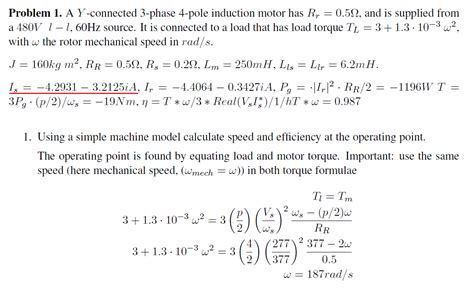 induction motor question bank asynchronous induction motor current in stator electrical engineering stack exchange