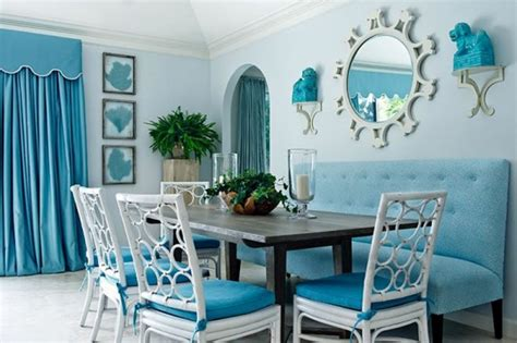 Turquoise Room Color by Interior Design Enlarging Small Dining Room With