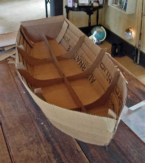 How To Make A Big Boat Out Of Paper - top 25 best cardboard box boats ideas on