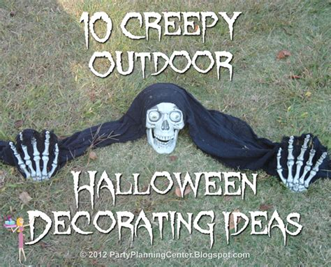how to make scary halloween decorations at home party planning center 10 creepy outdoor halloween decorating ideas