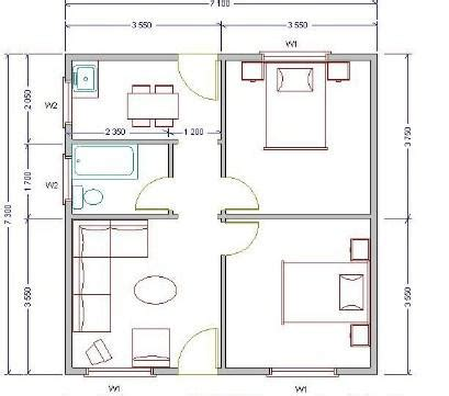 House Design 30 X 45 by