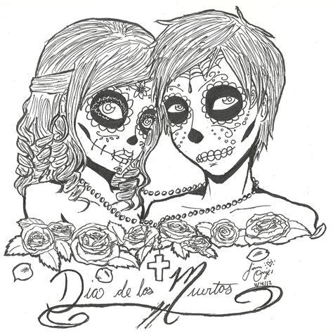 dia drawing dia de los muertos coloring page