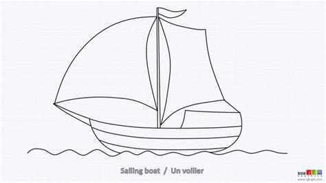 how to draw a boat simple how to draw sailing boat helicopter train youtube