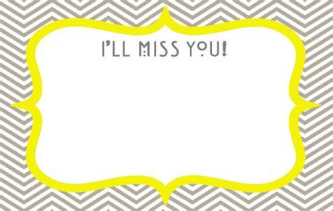 Printable Miss You Cards