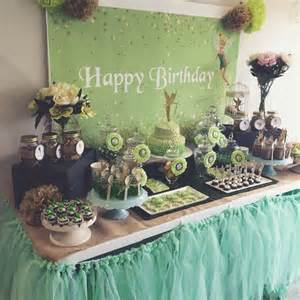 pan decor tinkerbell and pan decoration dessert table