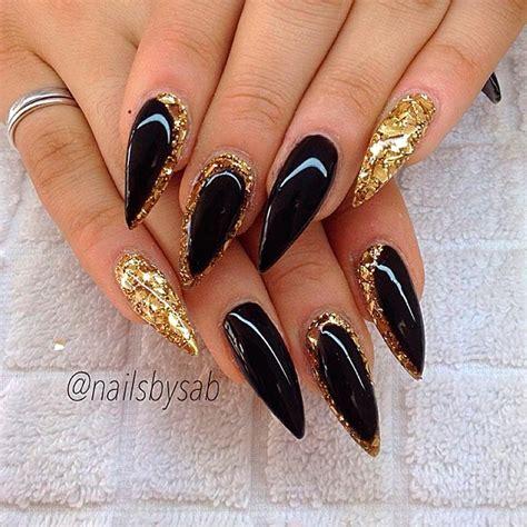 Black And Gold Nail Designs