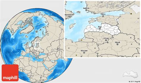 latvia on the world map blank location map of latvia shaded relief outside