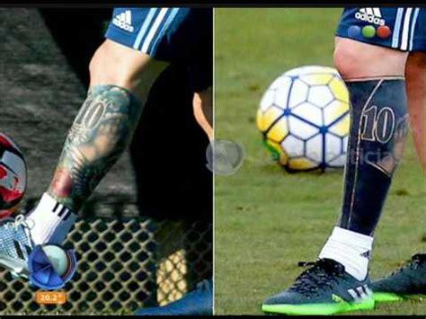 tattoo de messi en la mano el nuevo tatuaje de messi diario de medianoche youtube