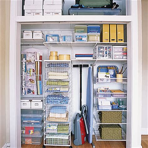 How To Organize A Utility Closet by Colonize Closet Space Small Home Organization Tips Sunset