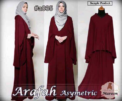Baju Muslim Gamis Syar I Rubiah Maroon gamis syari arafah 036 baju muslim model terbaru