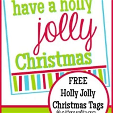 holly jolly christmas printable tags printables archives written reality