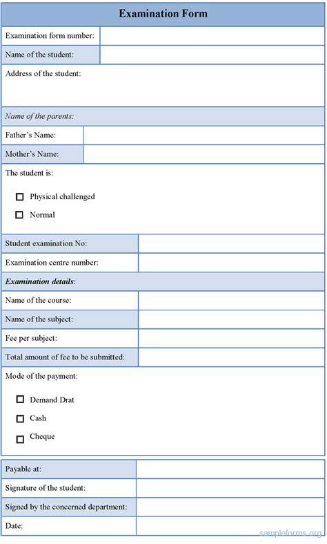 Sample Form sample examination form examination form sample forms